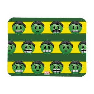 Hulk Emoji Stripe Pattern Rectangular Photo Magnet