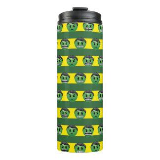 Hulk Emoji Stripe Pattern Thermal Tumbler