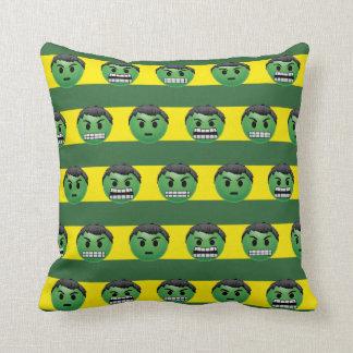 Hulk Emoji Stripe Pattern Throw Pillow