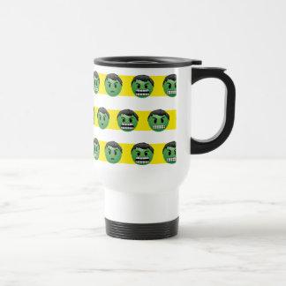 Hulk Emoji Stripe Pattern Travel Mug