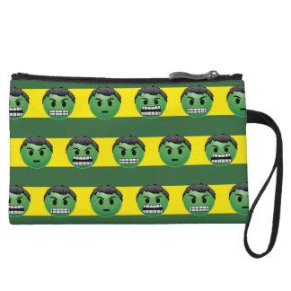 Hulk Emoji Stripe Pattern Wristlet