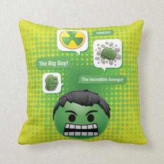 Hulk Emoji Throw Pillow