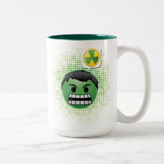 Hulk Emoji Two-Tone Coffee Mug