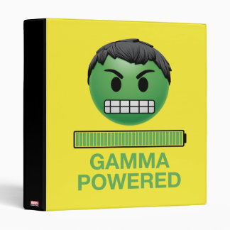 Hulk Gamma Powered Emoji 3 Ring Binder