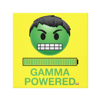Hulk Gamma Powered Emoji Canvas Print