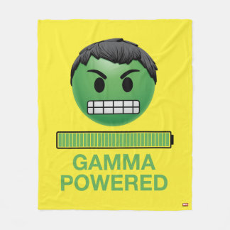 Hulk Gamma Powered Emoji Fleece Blanket