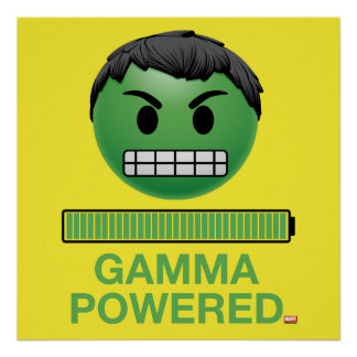 Hulk Gamma Powered Emoji Poster
