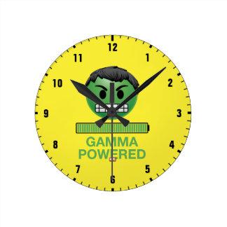 Hulk Gamma Powered Emoji Round Clock