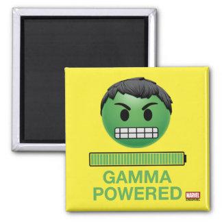 Hulk Gamma Powered Emoji Square Magnet