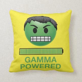 Hulk Gamma Powered Emoji Throw Pillow