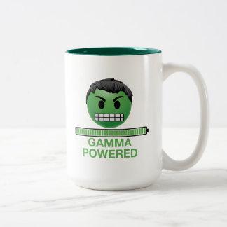 Hulk Gamma Powered Emoji Two-Tone Coffee Mug