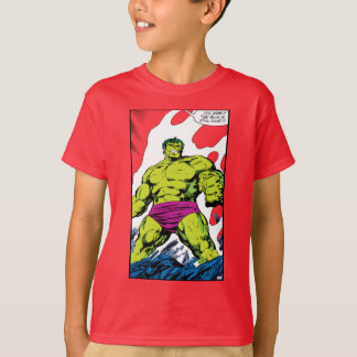 Hulk In Smoldering Ruins Comic Panel T-Shirt
