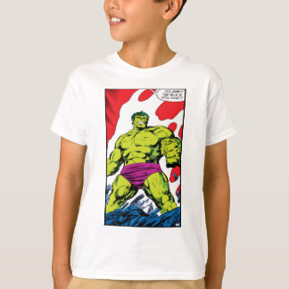 Hulk In Smoldering Ruins Comic Panel T-Shirt