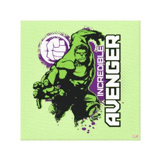 Hulk Incredible Avenger Canvas Print
