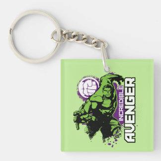 Hulk Incredible Avenger Double-Sided Square Acrylic Keychain
