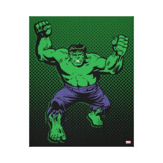 Hulk Retro Arms Canvas Print