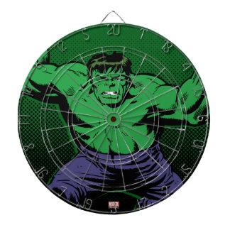 Hulk Retro Arms Dartboard With Darts