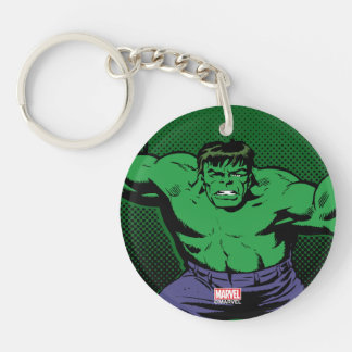 Hulk Retro Arms Double-Sided Round Acrylic Keychain