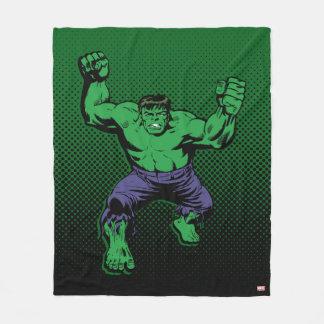 Hulk Retro Arms Fleece Blanket