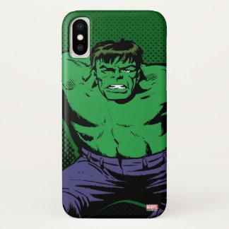 Hulk Retro Arms iPhone X Case