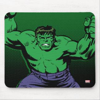 Hulk Retro Arms Mouse Pad