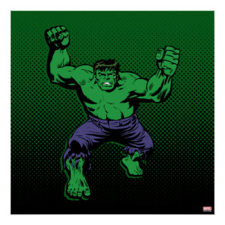 Hulk Retro Arms Poster