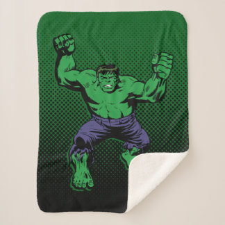 Hulk Retro Arms Sherpa Blanket