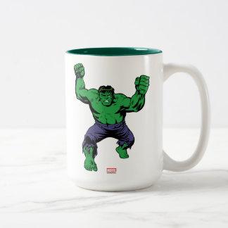 Hulk Retro Arms Two-Tone Coffee Mug