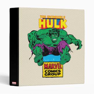 Hulk Retro Comic Character 3 Ring Binders