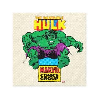 Hulk Retro Comic Character Canvas Print