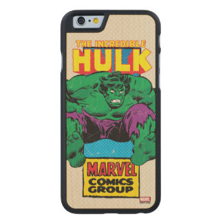 Hulk Retro Comic Character Carved Maple iPhone 6 Case