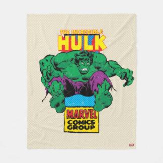 Hulk Retro Comic Character Fleece Blanket