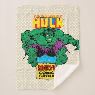 Hulk Retro Comic Character Sherpa Blanket