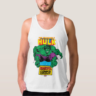 Hulk Retro Comic Character Tank Top