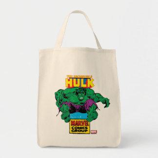 Hulk Retro Comic Character Tote Bag