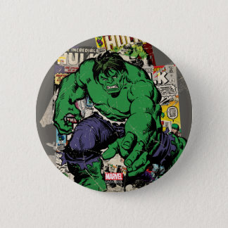 Hulk Retro Comic Graphic 2 Inch Round Button