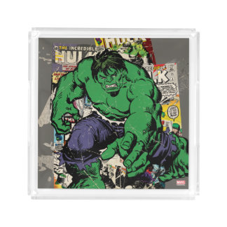 Hulk Retro Comic Graphic Acrylic Tray