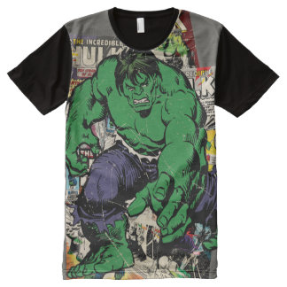 Hulk Retro Comic Graphic All-Over-Print T-Shirt
