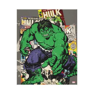 Hulk Retro Comic Graphic Canvas Print