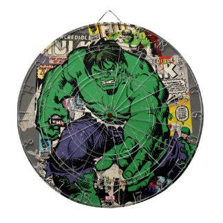 Hulk Retro Comic Graphic Dartboard
