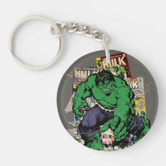 Hulk Retro Comic Graphic Keychain