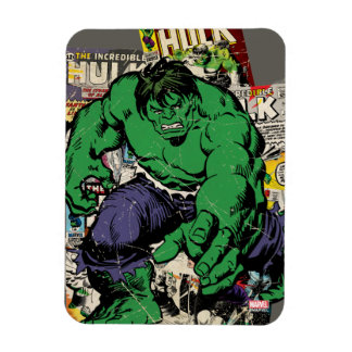Hulk Retro Comic Graphic Magnet