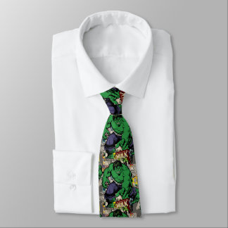 Hulk Retro Comic Graphic Tie