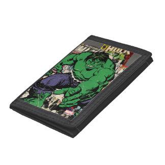 Hulk Retro Comic Graphic Tri-fold Wallets