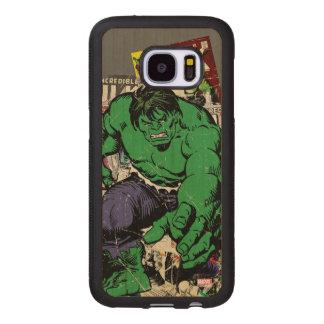 Hulk Retro Comic Graphic Wood Samsung Galaxy S7 Case