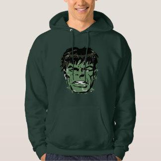 Hulk Retro Comic Halftone Head Hoodie