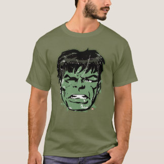 Hulk Retro Comic Halftone Head T-Shirt