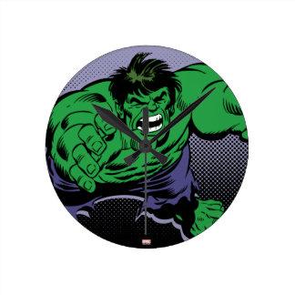 Hulk Retro Dive Round Clock