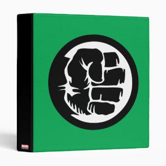 Hulk Retro Fist Icon 3 Ring Binder