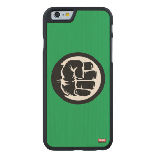 Hulk Retro Fist Icon Carved Maple iPhone 6 Case